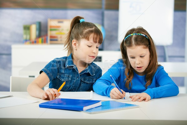 Stock photo: Children learning in classroom