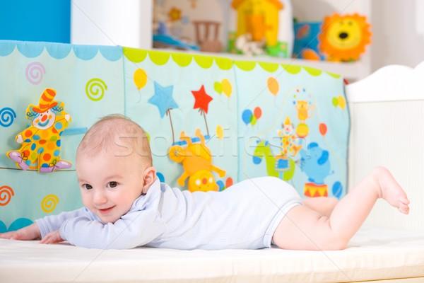 Gelukkig baby jongen maanden oude Stockfoto © nyul