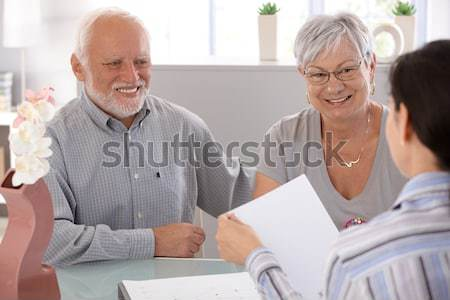 Female pensioner at doctors office Stock photo © nyul
