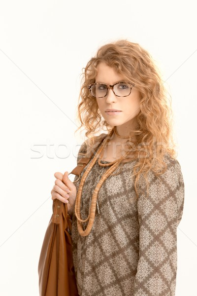 Attractive female wearing glasses going to work Stock photo © nyul