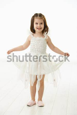 Laughing little girl in ballet costume Stock photo © nyul