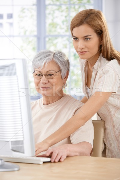 Mother and daughter browsing internet Stock photo © nyul