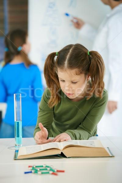 Tudomány osztály általános iskola iskolások tanár osztályterem Stock fotó © nyul