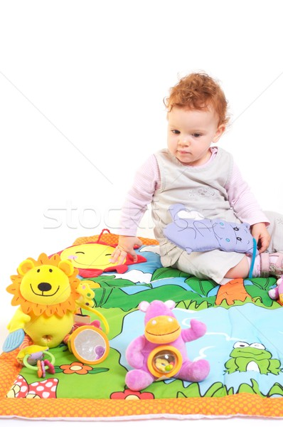 Redhead baby playing Stock photo © nyul