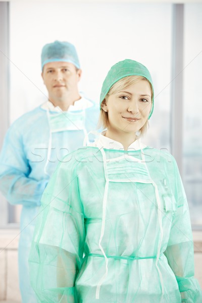 Surgeons is scrub suit Stock photo © nyul