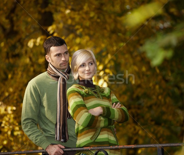 Portrait of young couple in nature Stock photo © nyul