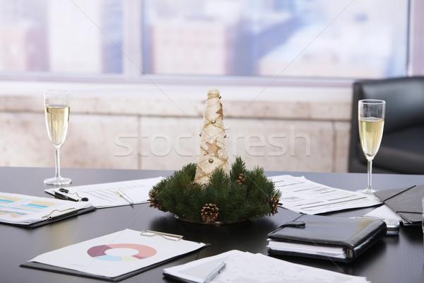 Сток-фото: Рождества · украшение · служба · декабрь · шампанского · флейты