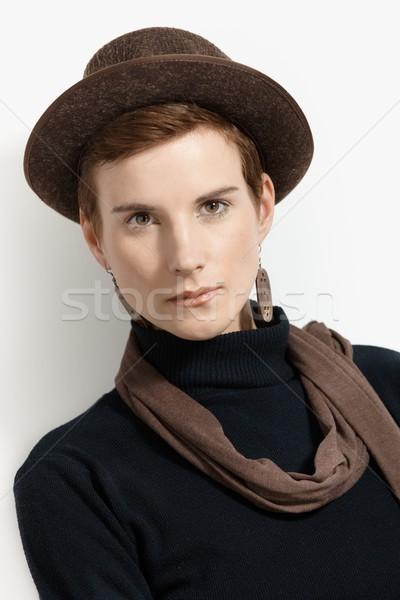 Mode portret jonge jonge vrouw Stockfoto © nyul