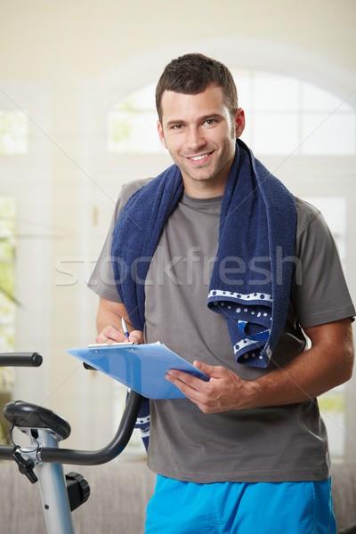 Man making notes after training Stock photo © nyul