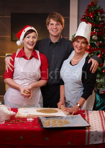 Семейный портрет Рождества счастливая семья портрет глядя Сток-фото © nyul