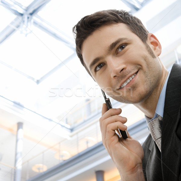 Businessman calling on phone Stock photo © nyul