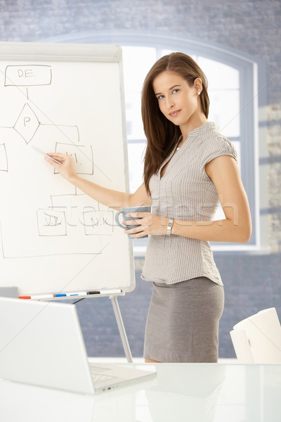 Businesswoman doing presentation Stock photo © nyul