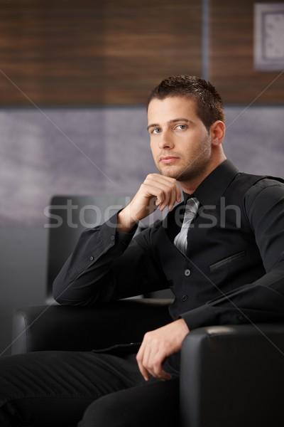 Handsome businessman waiting Stock photo © nyul