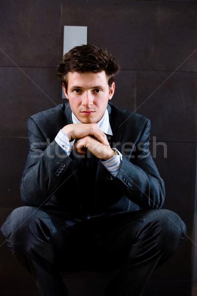 Businessman thinking Stock photo © nyul