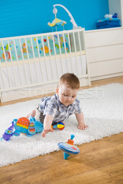 ребенка мальчика 1 год сидят полу домой Сток-фото © nyul
