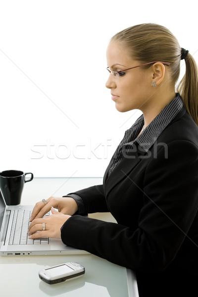Stock photo: Businesswoman working on computer
