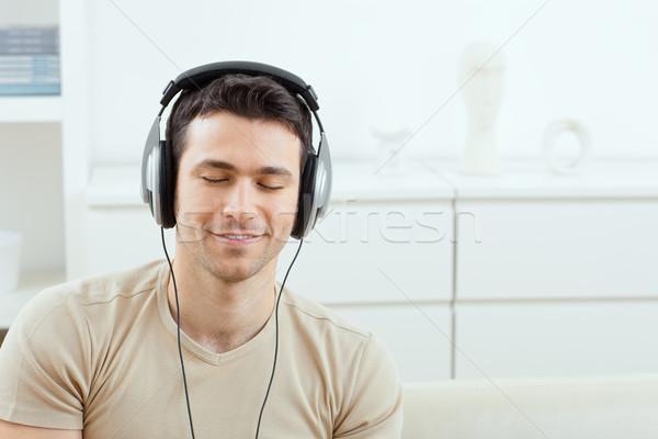 Man with headphones Stock photo © nyul