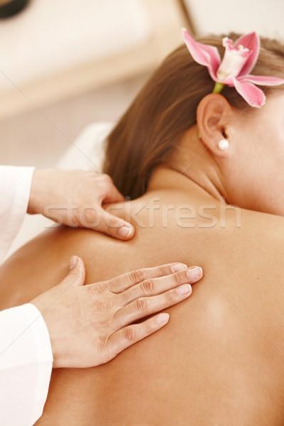 Сток-фото: назад · массаж · рук · цветок · стороны