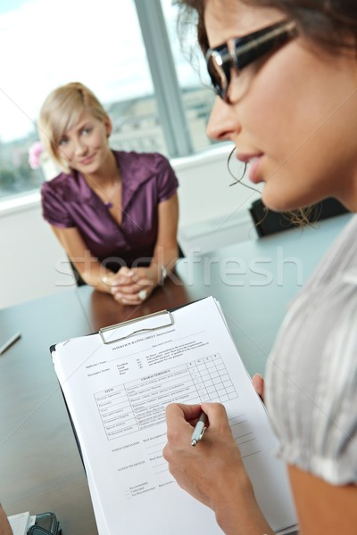 Successful job interview Stock photo © nyul
