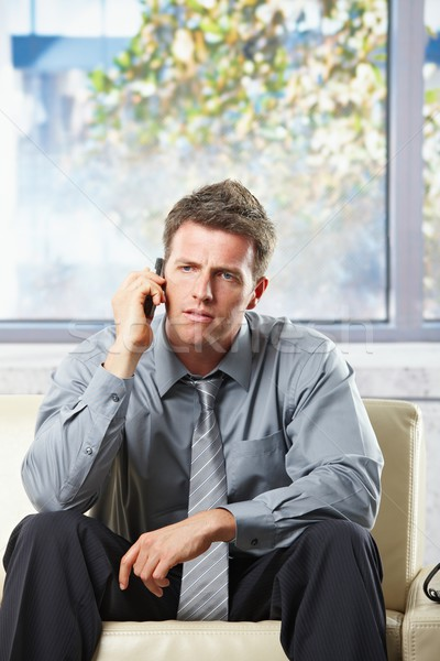 Troubled businessman on phonecall Stock photo © nyul