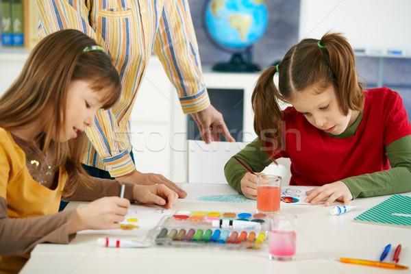 Сток-фото: детей · Живопись · искусства · класс · элементарный