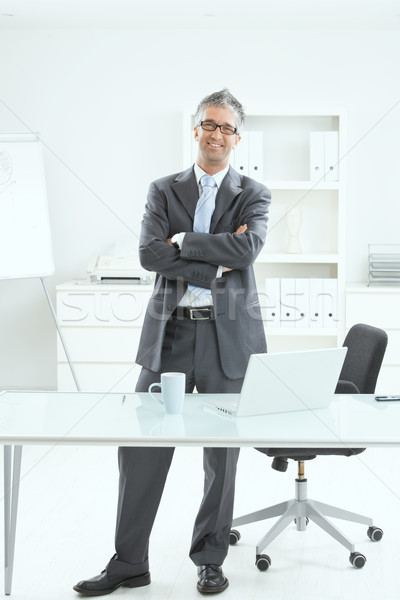 Happy businessman at office Stock photo © nyul