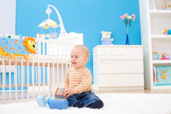 Happy baby playing indoor  Stock photo © nyul