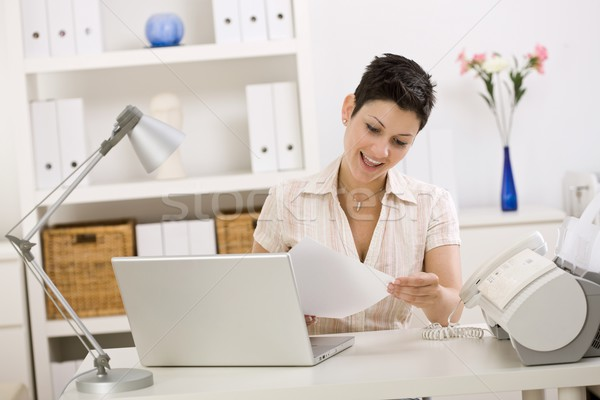 Business woman working at home Stock photo © nyul