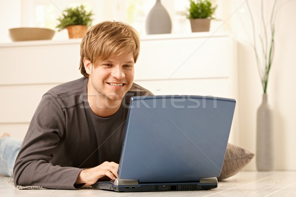 Man browsing internet Stock photo © nyul