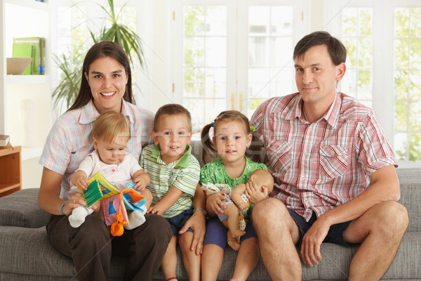 Portrait of nuclear family at home Stock photo © nyul