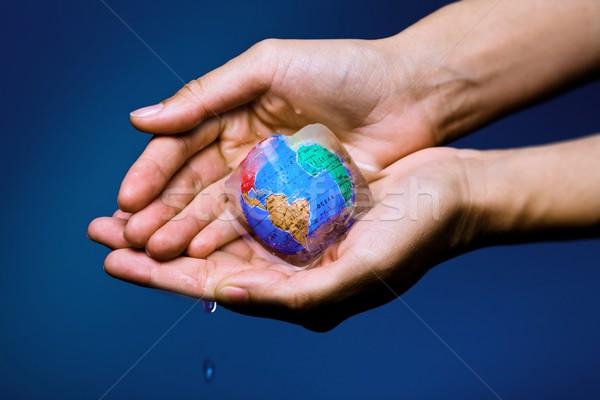 Green - Global warming Stock photo © nyul