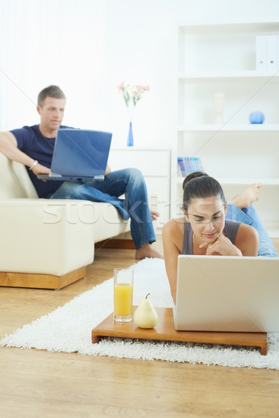 Young couple working at home Stock photo © nyul