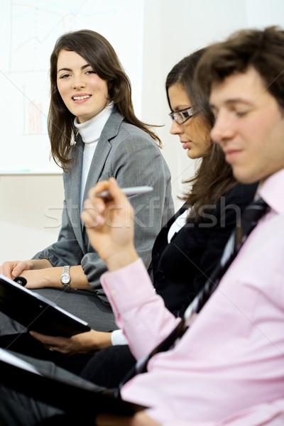 ビジネス 訓練 3  小さな 座って ストックフォト © nyul