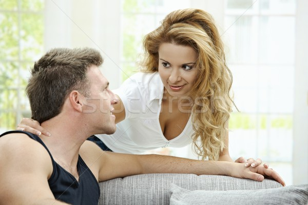 Love couple at home Stock photo © nyul
