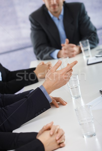 Stock photo: Hands on business meeting at office