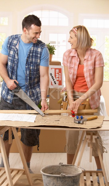 Happy couple improving new house Stock photo © nyul