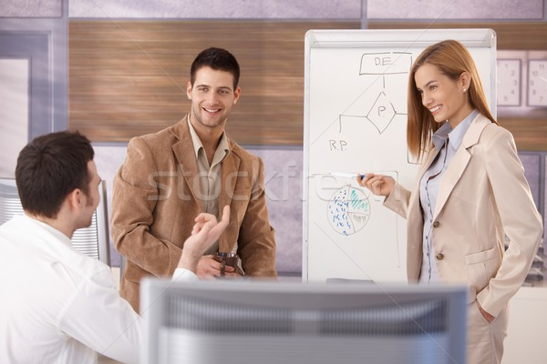 Cheerful businessteam working together smiling Stock photo © nyul