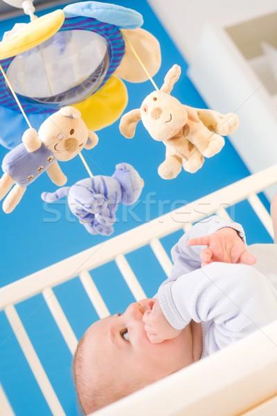 Baby zuigeling betalen aandacht opknoping Stockfoto © nyul