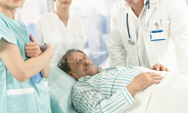 Elderly male patient in hospital Stock photo © nyul