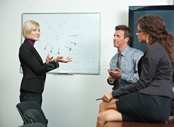 Business people brainstoming in office Stock photo © nyul