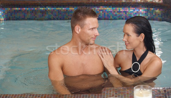 Smiling couple in spa Stock photo © nyul