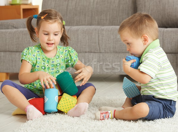 Children playing together at home Stock photo © nyul