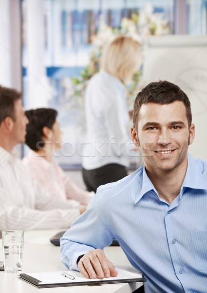 Businessman in meeting room Stock photo © nyul