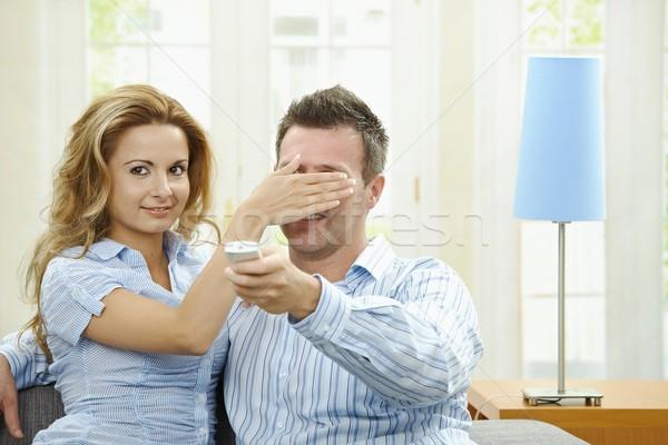 Love couple watching TV Stock photo © nyul