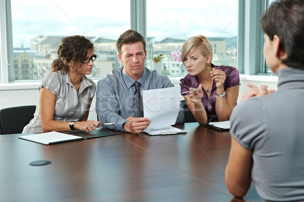 Business people at job interview Stock photo © nyul