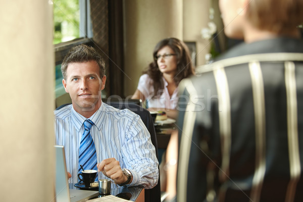 Stock photo: Business meeting in cafe