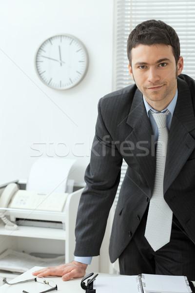 Businessman at office Stock photo © nyul