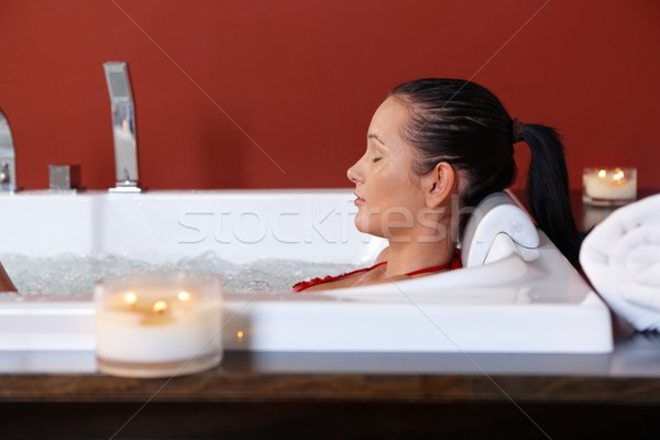 Young woman enjoying bubble bath Stock photo © nyul