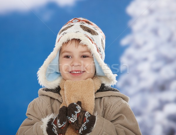Happy kid at winter Stock photo © nyul