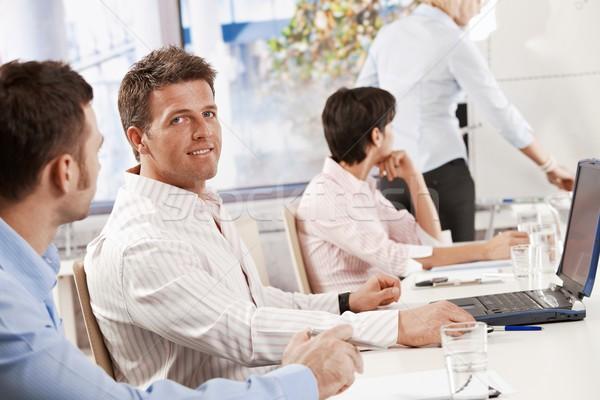 40s empresario reunión de negocios sesión colegas oficina Foto stock © nyul